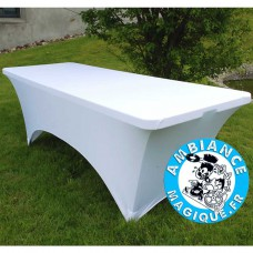 TABLE PLIANTE 182X74X74CM, GRIS CLAIR