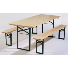 TABLE ET BANS EN BOIS