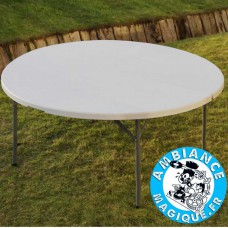 TABLE 182 X 74 X 74 Cm GRIS CLAIR